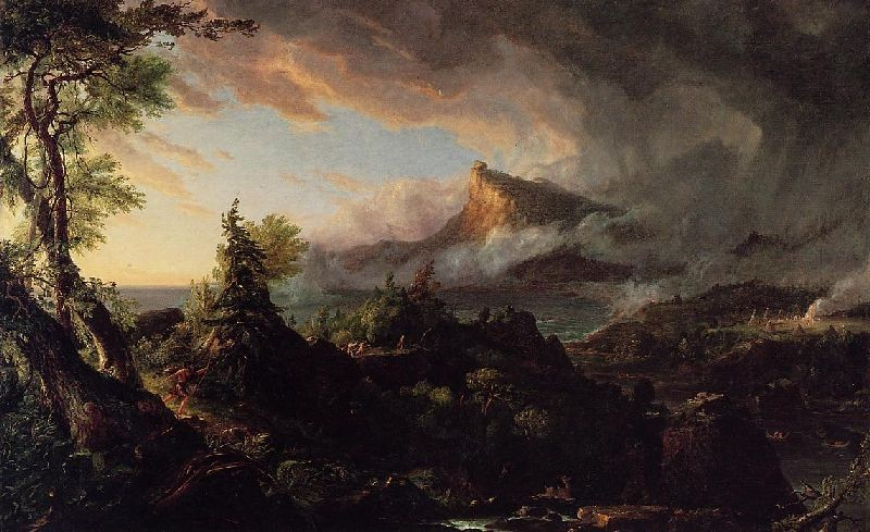 'The Course of Empire, The Savage State', Oil by Thomas Cole (1801-1848, England)