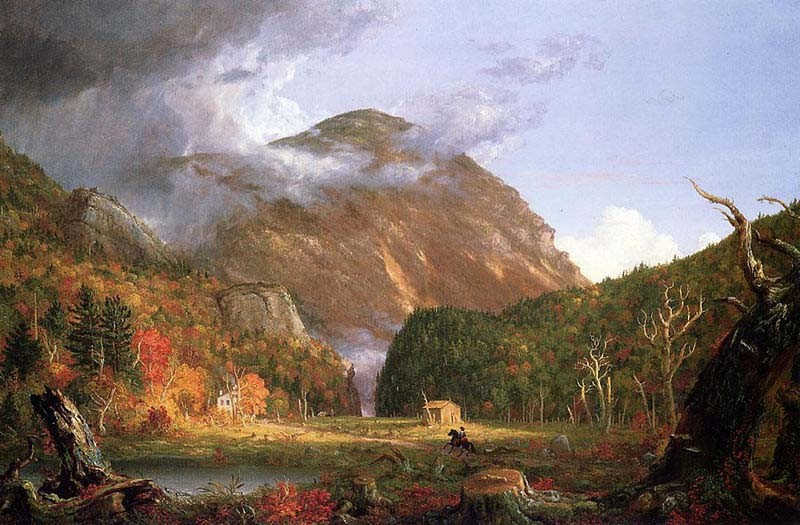 'The Notch of the White Mountains (Crawford Notch)', Oil by Thomas Cole (1801-1848, England)