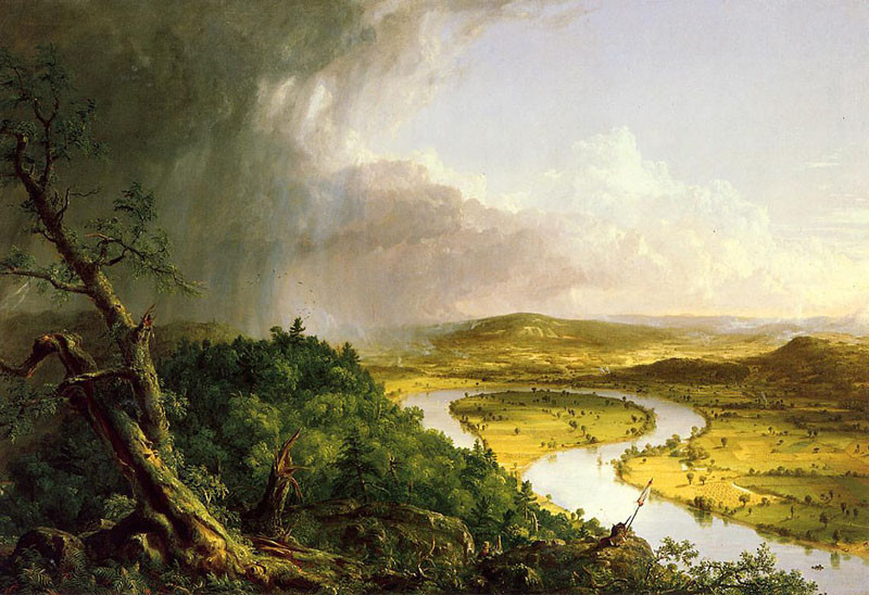'The Oxbow', Oil by Thomas Cole (1801-1848, England)