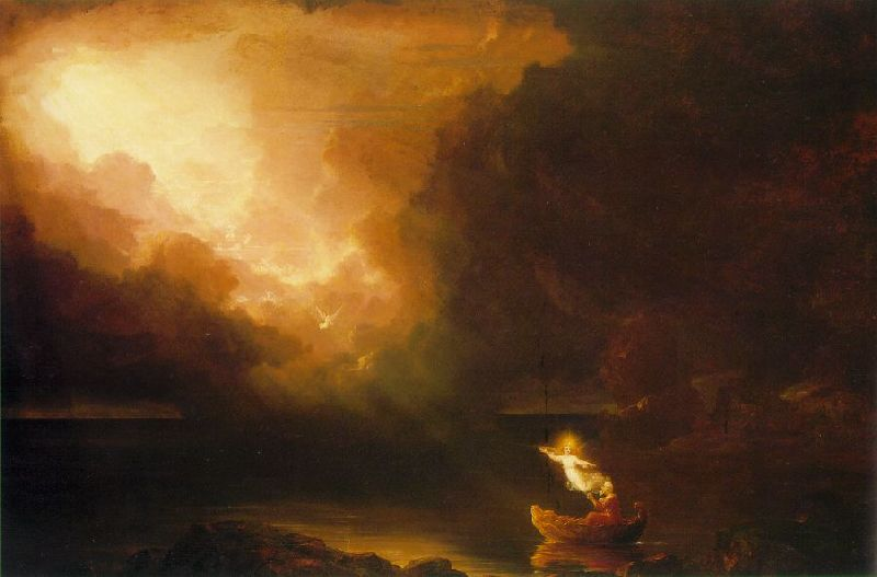 'The Voyage of Life, Old Age', Oil by Thomas Cole (1801-1848, England)