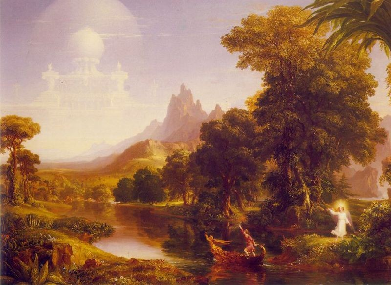 'The Voyage of Life, Youth', Oil by Thomas Cole (1801-1848, England)