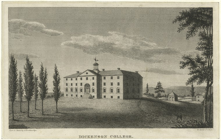 'Dickinson College', Oil by Benjamin Tanner (1775-1848, United States)