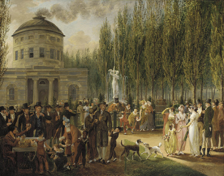 'Fourth of July in Centre Square', Oil by John Lewis Krimmel (1786-1821, Germany)