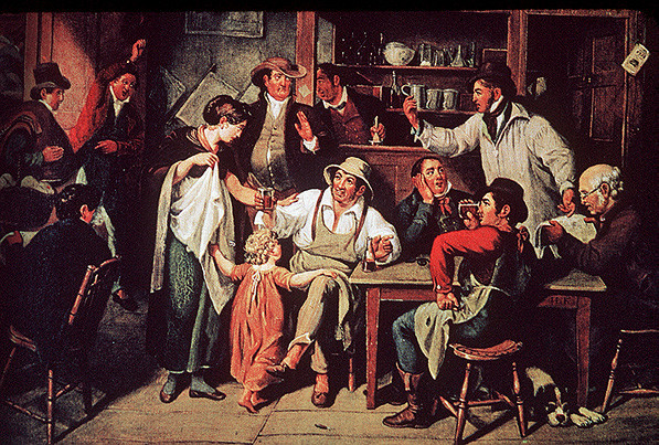 Village Tavern by John Lewis Krimmel (1786-1821, Germany) | WahooArt.com