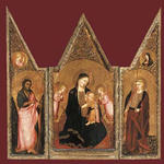 Agnolo Gaddi - The Madonna of Humility with Saint Catherine and Saint John the Baptist