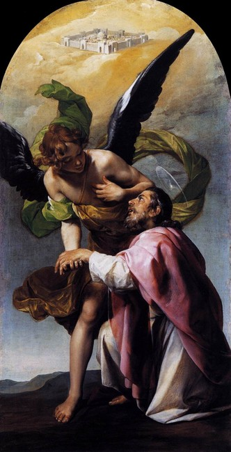 Saint John the Evangelist`s Vision of Jerusalem by Alonso Cano (1601-1667, Spain) | Art Reproduction | WahooArt.com