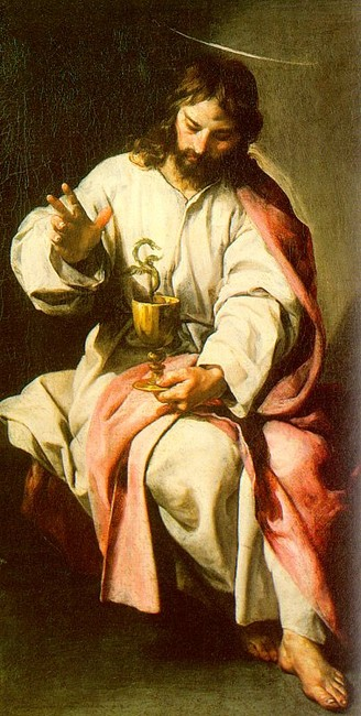 'St. John the Evangelist with the Poisoned Cup', Oil by Alonso Cano (1601-1667, Spain)
