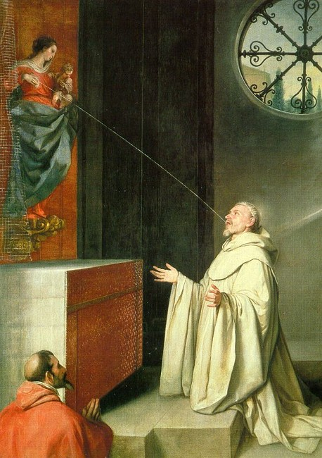 'The Vision of St Bernard', Oil by Alonso Cano (1601-1667, Spain)