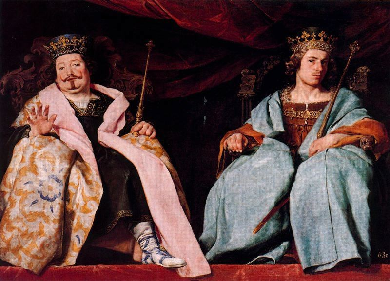 'Two kings of Spain', Oil by Alonso Cano (1601-1667, Spain)