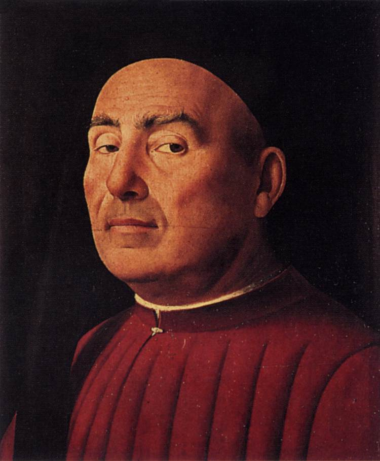 'Trivulzio Portrait', Oil by Antonello Da Messina (1430-1479, Italy)