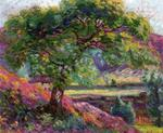 Armand Guillaumin - Landscape with Trees and Figures
