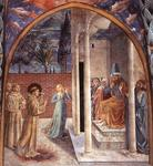 Benozzo Gozzoli - Scenes from the Life of St Francis (Scene 10, north wall)