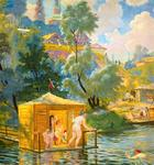 Boris Kustodiev - Bathing