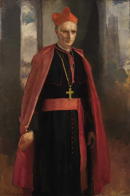 'Cardinal Mercier', Oil by Cecilia Beaux (1855-1942, United States)