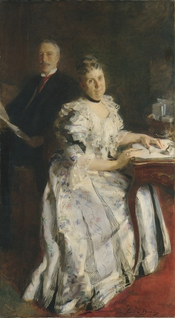 'Mr. and Mrs. Anson Phelps Stokes', Oil by Cecilia Beaux (1855-1942, United States)