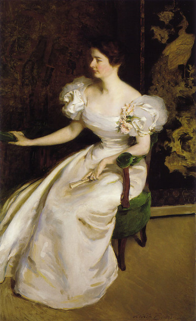 Mrs. Clement B. Newbold by Cecilia Beaux (1855-1942, United States) | Famous Paintings Reproductions | WahooArt.com