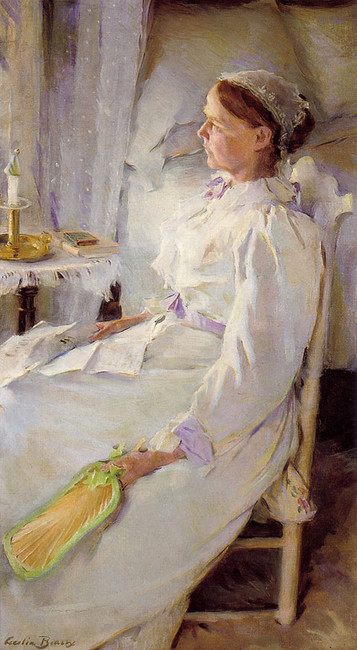'New England Woman', Oil by Cecilia Beaux (1855-1942, United States)