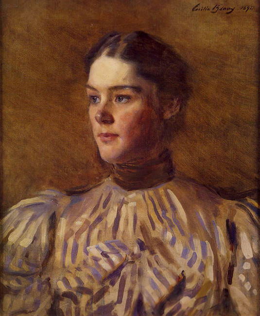 'Self-Portrait 1', Oil by Cecilia Beaux (1855-1942, United States)