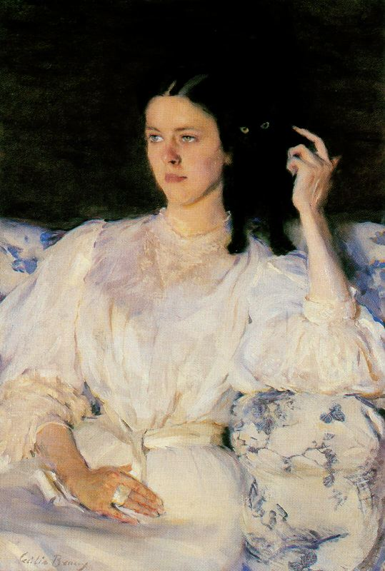 Sita and Sarita by Cecilia Beaux (1855-1942, United States) | Oil Painting | WahooArt.com