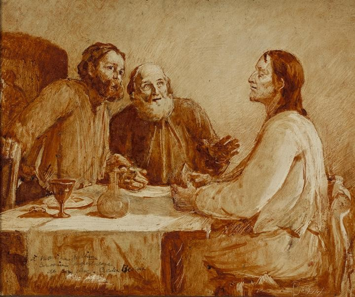Supper at Emmaus by Cecilia Beaux (1855-1942, United States) | WahooArt.com