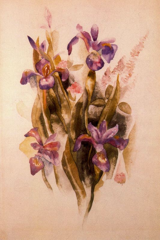 'Delphinium', Watercolor by Charles Demuth (1883-1935, United States)