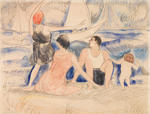 Charles Demuth - Man and Woman on the Beach, Provincetown