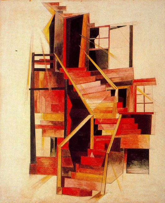 Stairs, Provincetown by Charles Demuth (1883-1935, United States) | Art Reproduction | WahooArt.com