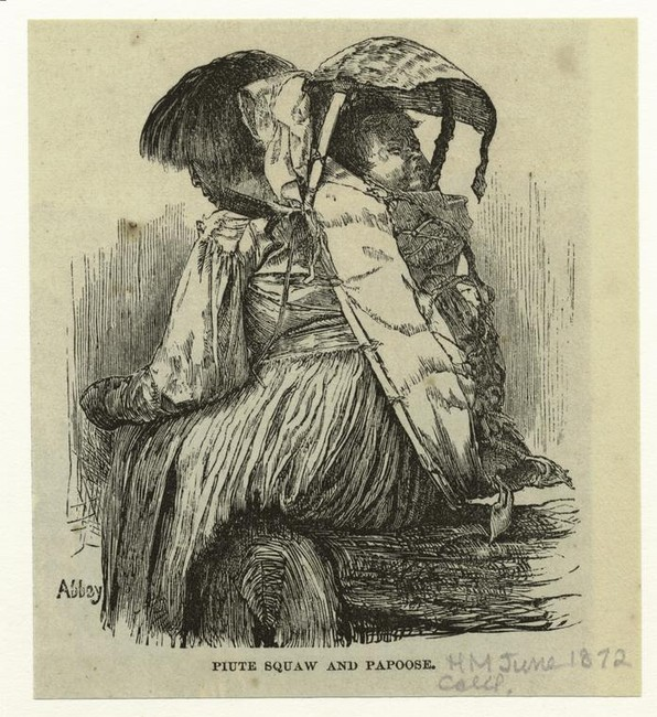 'Piute squaw and papoose', Illustration by Edwin Austin Abbey (1852-1911, United States)