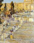 Frederick Childe Hassam - The Spanish Steps, Rome