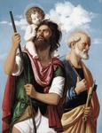 Giambattista Cima Da Conegliano - St Christopher with the Infant Christ and St Peter
