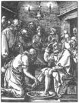 Albrecht Durer - Small Passion. 9. Christ Washing Peter's Feet