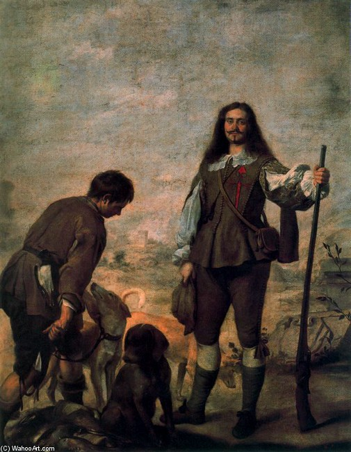 'Le Chasseur, pottrait de Don Antonio Hurtado de Salcedo le Marquis de Legarda', Oil by Bartolome Esteban Murillo (1617-1682, Spain)
