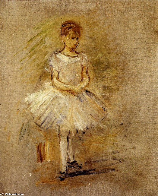 Little Dancer by Berthe Morisot (1841-1895, France) | Famous Paintings Reproductions | WahooArt.com