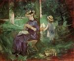 Berthe Morisot - Woman and Child in a Garden