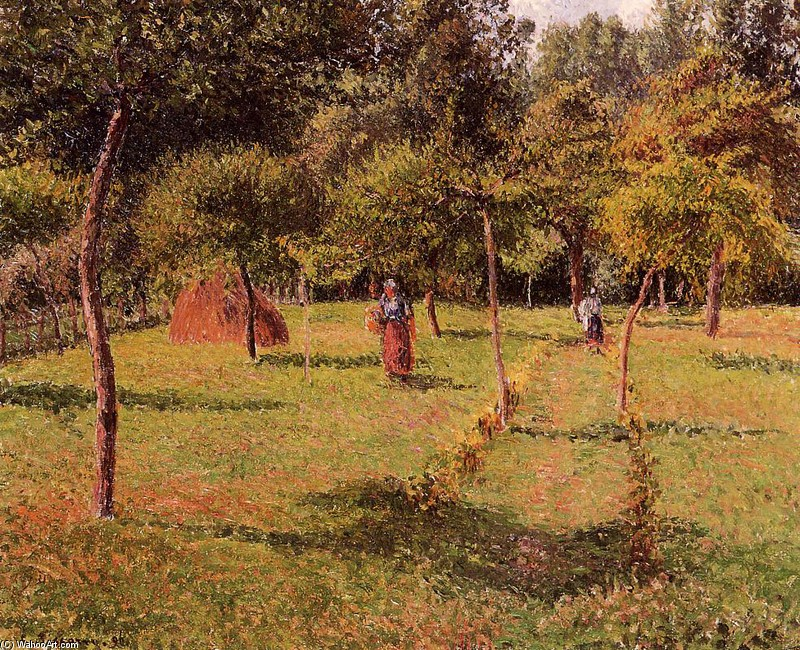 Enclosed Field at Eragny by Camille Pissarro (1830-1903, France) | WahooArt.com