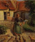 Camille Pissarro - Shepherdess Bringing in the Sheep