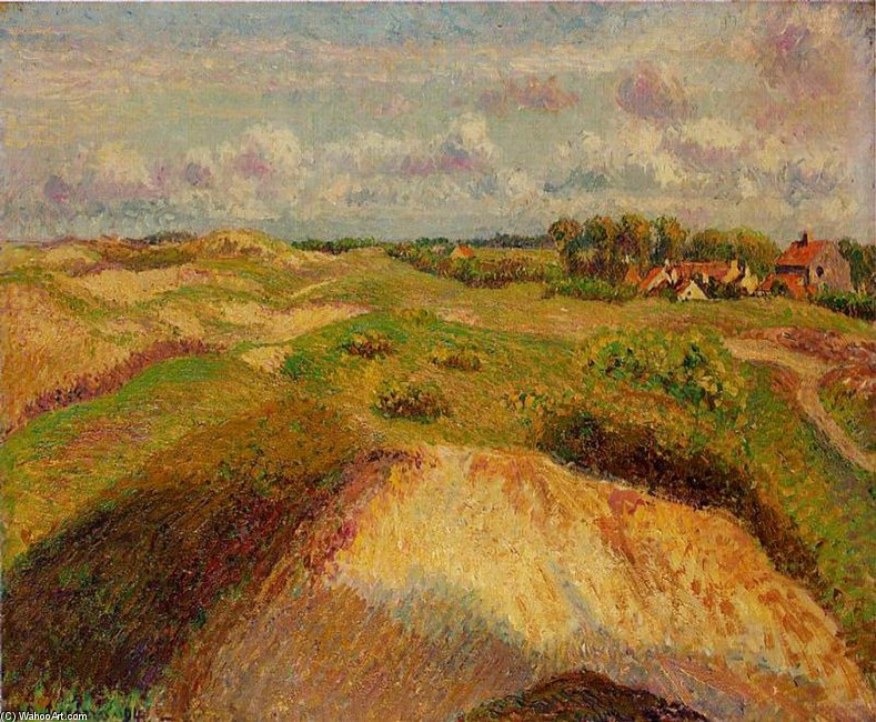 'The Dunes at Knocke, Belgium', Oil by Camille Pissarro (1830-1903, France)