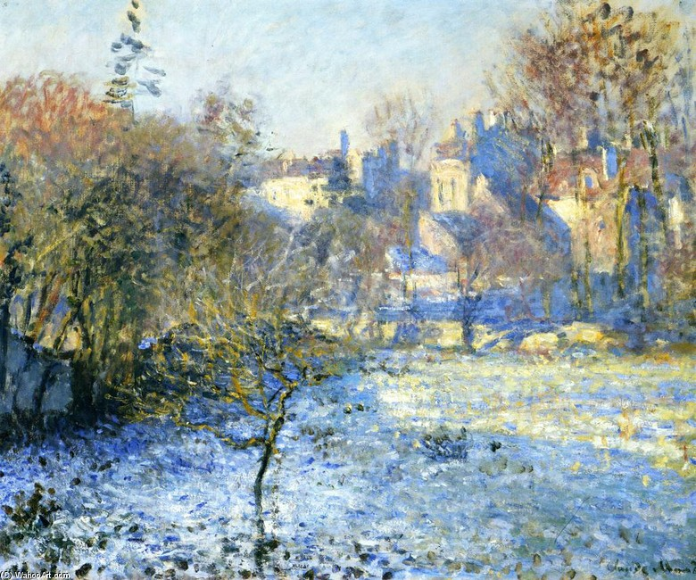 'Frost', Oil by Claude Monet (1840-1926, France)