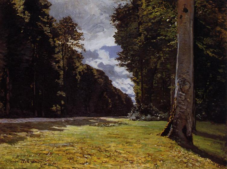 'Le Pave de Chailly in the Fontainbleau Forest', Oil by Claude Monet (1840-1926, France)