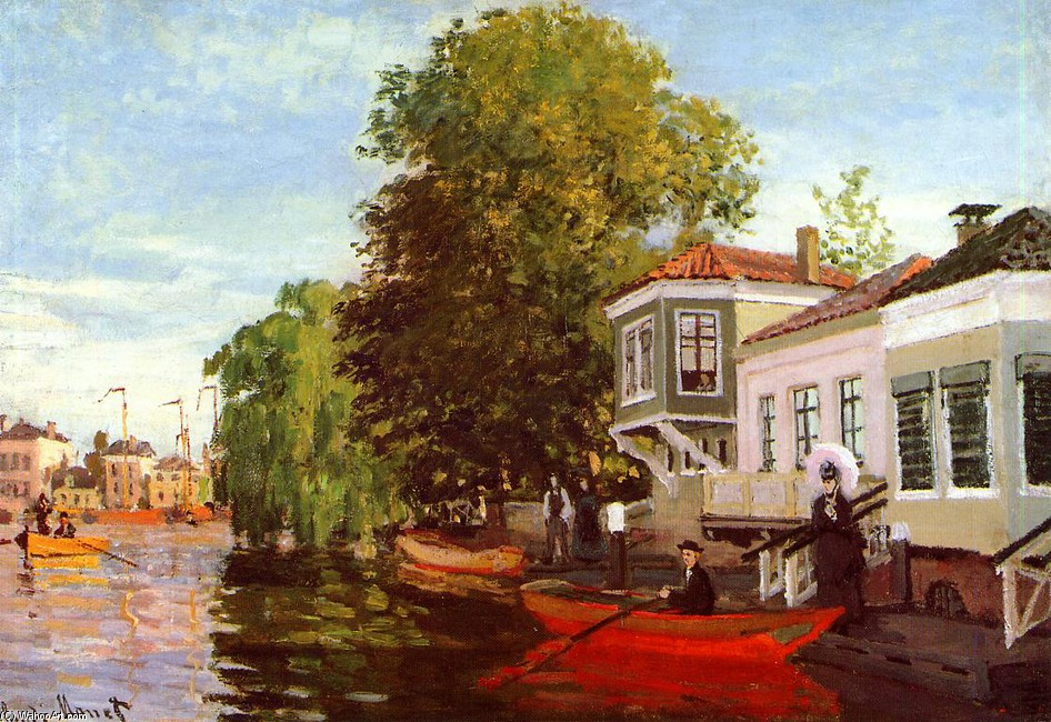 'The Zaan at Zaandam 1', Oil by Claude Monet (1840-1926, France)