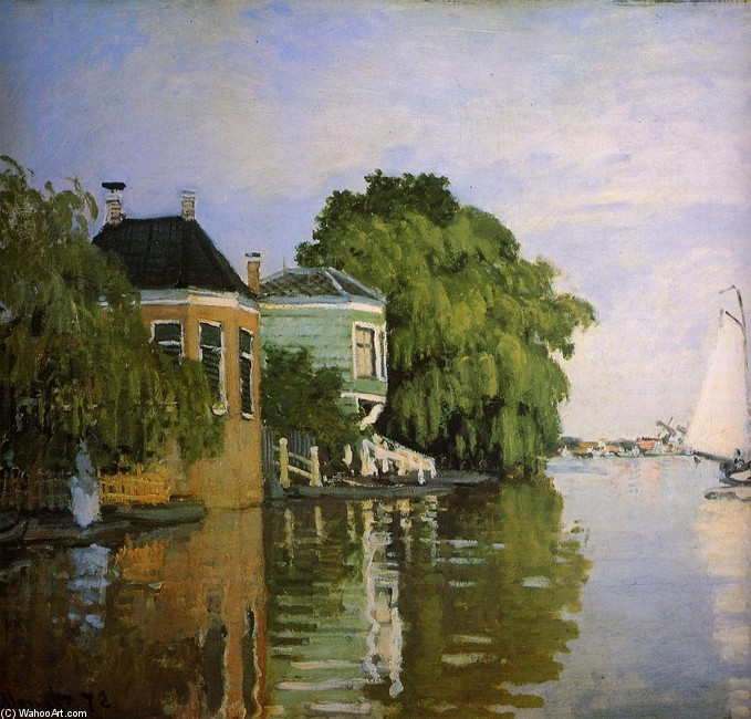 'Zaandam 1', Oil by Claude Monet (1840-1926, France)