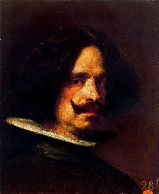 'Self-portrait 2', Oil by Diego Velazquez (1599-1660, Spain)