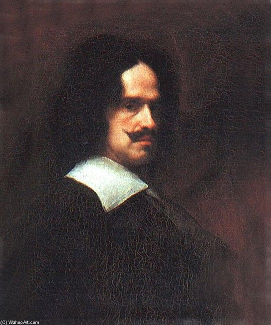 'Self-portrait 3', Oil by Diego Velazquez (1599-1660, Spain)