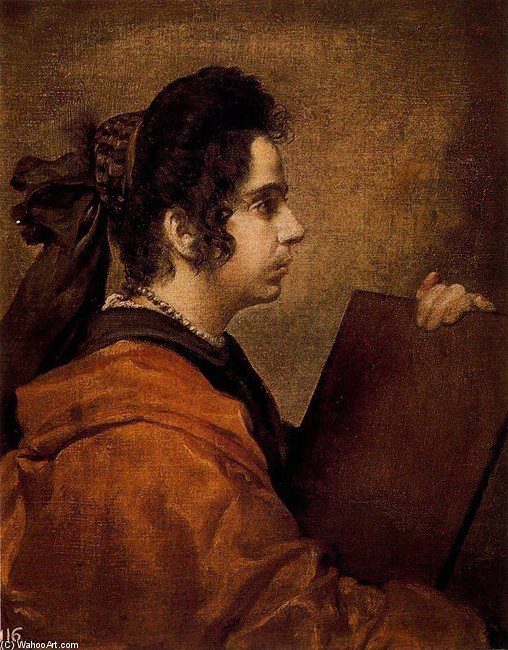 'Una sibila', Oil by Diego Velazquez (1599-1660, Spain)