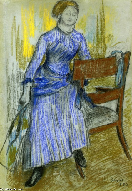 Helene Rouart (Mme. Marin) by Edgar Degas (1834-1917, France) | Famous Paintings Reproductions | WahooArt.com