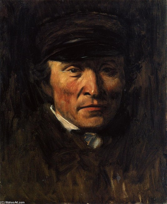 'Jerome Ottoz', Oil by Edgar Degas (1834-1917, France)