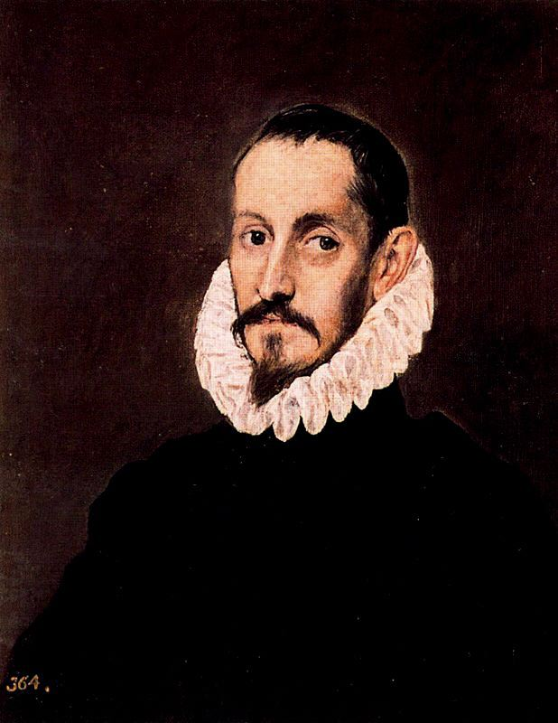 'Portrait of a Gentleman 1', Oil by El Greco - Dominikos Theotokopoulos (1541-1614, Spain)