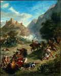 Eugène Delacroix - Arabs Skirmishing in the Mountains