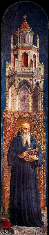 'Saint Jerome', Frescoes by Fra Angelico (1400-1455, Italy)