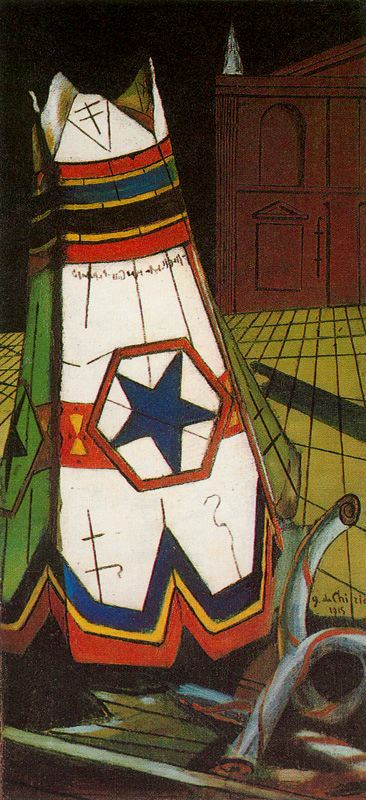 'The toy of the prince', Oil by Giorgio De Chirico (1888-1978, Greece)
